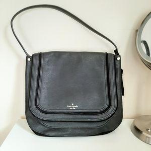 Kate Spade Large Black Suade/Leather Shoulder Bag